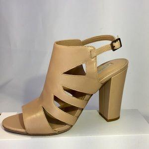 Audrey  Brooke sz 8.5M Cutout Nude leather sandals